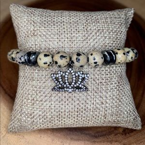Handmade / Handcrafted Bracelet w/ Pave Charm